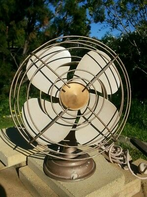 Vintage Retro Westinghouse Oscillating Electric Desk Table Fan