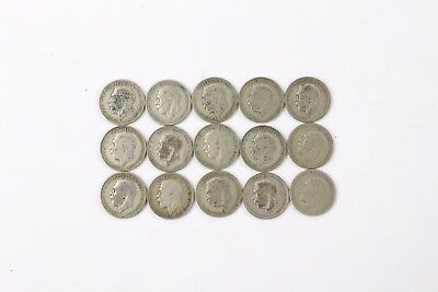 Lot of Pre-1947 x15 GEORGE V One Florin Circulated Coins - 159g