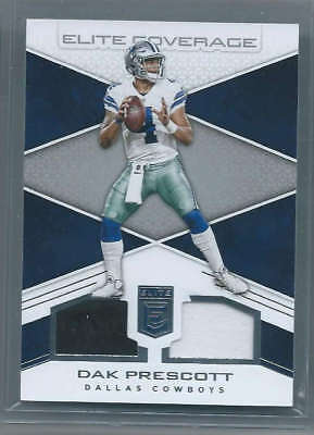 2017 Donruss Elite NFL Dak Prescott Dallas Cowboys Elite Coverage