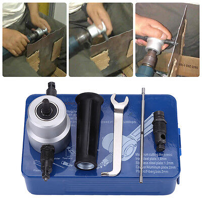 1pc Double Head Sheet Metal Nibbler Cutter Holder Tool Power Drill Attachment MP