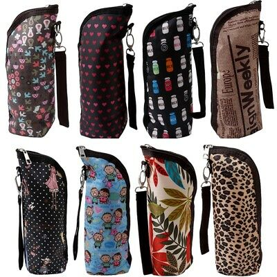 Baby Thermal Feeding Insulation Bottle Warmers Tote Storage Bag Hang Stroller