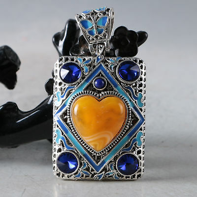Chinese Delicate Cloisonne Inlaid Beeswax Pendant  DZ001