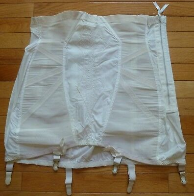 Vintage Sears/Poirette High Waist Open Bottom girdle wzipper sz 5X/40