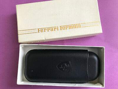 Etui à cigares cuir neuf cigar case black leather Ferrari