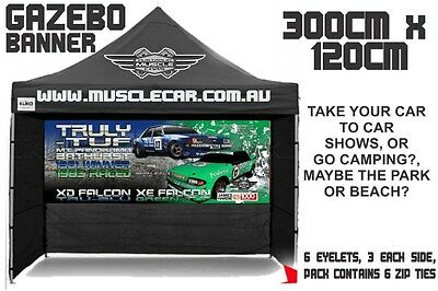 Musclecar Truly-tuf XD Falcon and XE Falcon Gazebo banner / flag