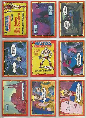 Masters of the Universe - Complete Trading Card Set (88) - 1984 TOPPS - NM