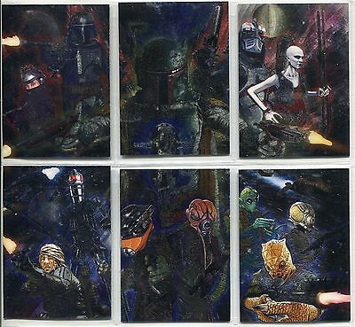Star Wars - Galaxy Series 6 - Chase Foil Complete Card Set (6) - TOPPS 2011 - NM
