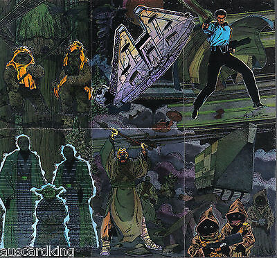 Star Wars - Galaxy Series 3 - Complete Chase Foil Complete Card Set (6) - NM