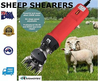 New Sheep Shearers Clippers 6 Speed 500W Shearing Clipping Goat Alpaca Farm