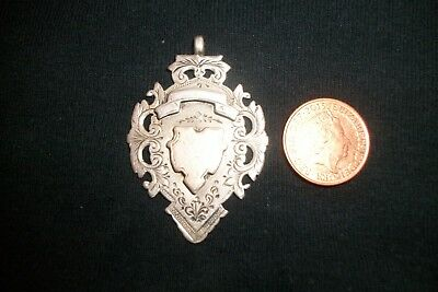 Large silver & gold fob/medal, hallmarked 1901.