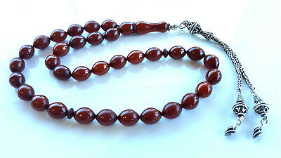 Amber Bakelite 33  Prayer Worry Beads Tasbih Tasbeh