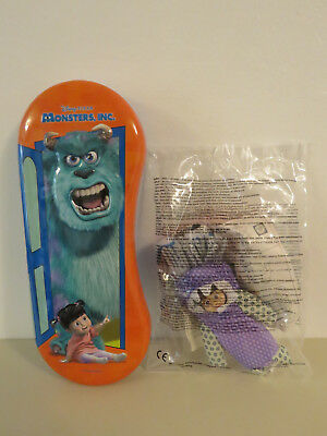 McDonalds Boo Toy 2002 NEW & SEALED & Monsters Inc Pencil Case Tin