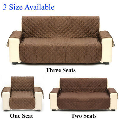 1/2/3 Seats Couch Sofa Cover Pad Quilted Slipcover Pet Kid Protector Reversible