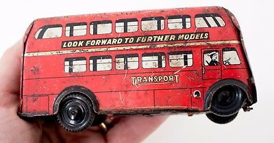 Wells Brimtoy Vintage London Bus Tin Toy Collectors Item Going to Walthamstow