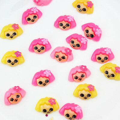 50pcs 20x14x5mm Dora with flower hair bow flat back embellishment,scrapbooking