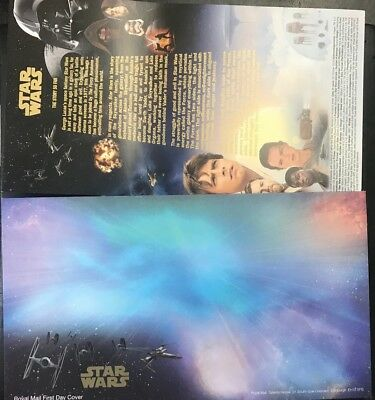 ROYAL MAIL STAR WARS 1st DAY COVER STAMP CARS + Envelope