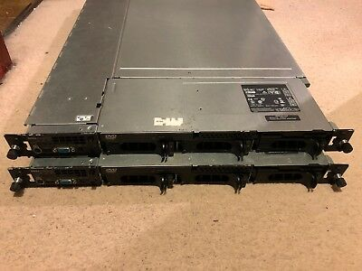 2x Dell PowerEdge 1750 dual Xeon 2.8Ghz 2GB RAM rackmount Servers + spare parts!