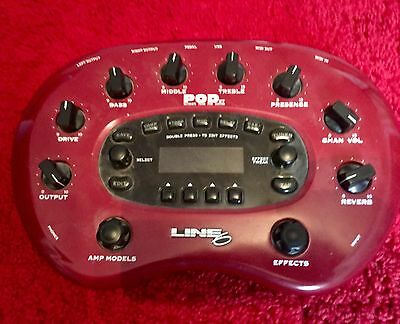 Line 6 POD XT guitar effects interface with power supply. Good working order.