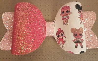 lol dolls glitter hair bow
