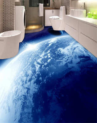 Outer Space 3D Floor Mural Photo Flooring Wallpaper Home Print Decoration Kids