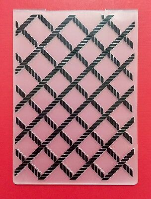 NEW• ROPE LATTICE EMBOSSING FOLDER For Cuttlebug Or Sizzix