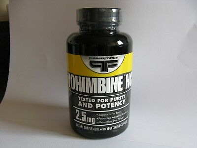 Primaforce Yohimbine HCL 2.5mg [Dietry Supplement 90 Caps]