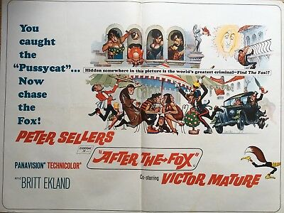 Peter Sellers 1966 Film 'After The Fox' Original Quad Poster