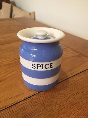 Cornishware Spice Storage Jar T G Green