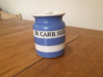 Cornishware Bi. Carb. Soda Storage Jar T G Green ( Bicarbonate Soda )