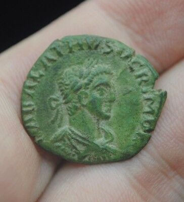 Unresearched ancient Roman bronze double head coin