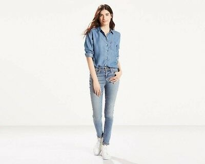 Women's New Levi's 721 Skinny High Rise Stretch Jeans RRP £85 - REF: 721D