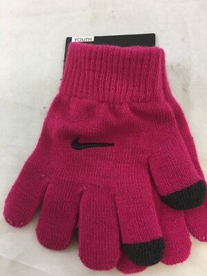 NWD Nike Youth Tech Gloves Pink/Black Sz: Youth 7/16 (BS)