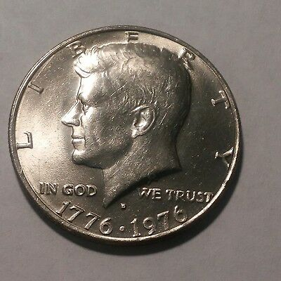 1976 - D Kennedy Half dollar. Album filler. Free Shipping.