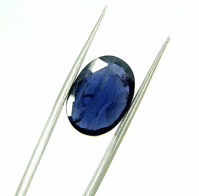 6.00 Ct Certified Natural Blue Iolite / Neeli Oval Loose Gemstone - 108671
