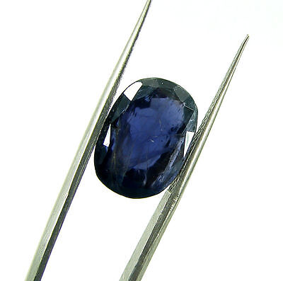 5.70 Ct Certified Natural Blue Iolite / Neeli Oval Loose Gemstone Stone - 108656