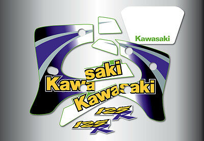 KAWASAKI Kmx 125 Graphics Sticker Decal Set - For Green Kmx.