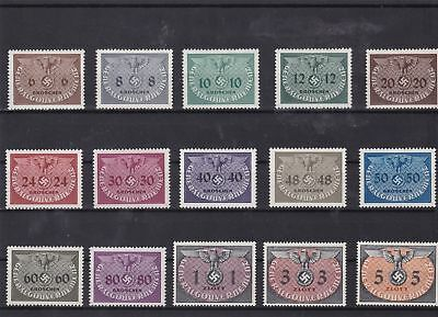 germany general government 1940 officals mounted mint stamps   ref 7561