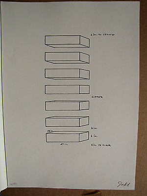 Donald Judd - Untitled - 1969 Offset Lithograph Numbered 48/180 Autographed