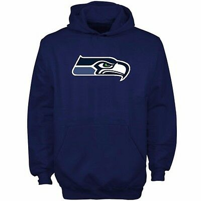 Youths Large Seattle Seahawks Core Team Colour Fleece Hoodie M204