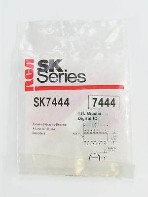 RCA SK7444 - Excess-3-Gray-to-Decimal 4-Line-to-10-Line Decoders IC, NOS