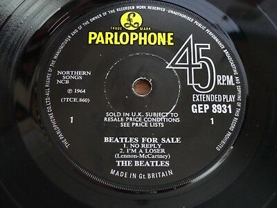 The Beatles - Beatles For Sale - Original UK EP - Solid Centre!