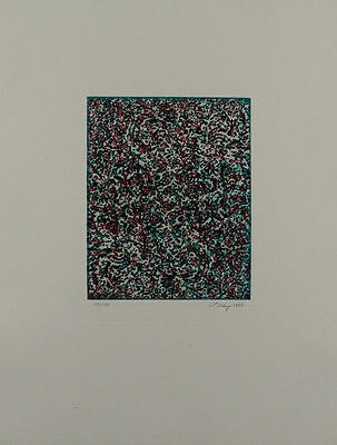Mark Tobey - Summer Joy 1972 Color Etching - Autographed - Edition 96