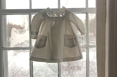 Vintage Antique French baby dress lace / cotton c1910 hand made lace