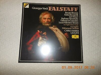 "12"" 3 Lp Box Giuseppe Verdi Falstaff Giulini  Neu Sealed"