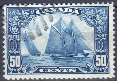 """Canada 1928 issue, SG 284, 50 cents Blue, """"Bluenose"""", used, Cat £50"""
