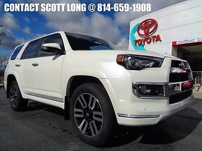 2018 Toyota 4Runner New 2018 Limited 4x4 Navigation 4WD New 2018 4Runner Limited 4x4 Blizzard Pearl Sand Beige Leather Nav Sunroof 4WD