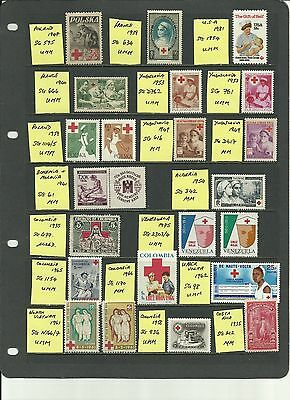 Selection of 22 Red Cross stamps featuring NURSES unmounted Mint /  Mounted Mint