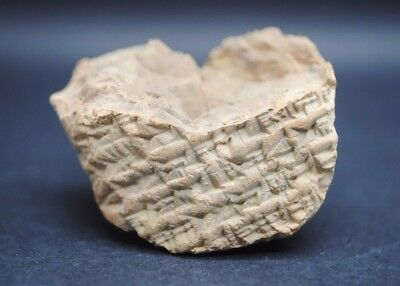 Rare ancient clay tablet with earliest form of writing 2200 BC