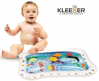 Kleeger Inflatable Baby Water Mat: Fun Activity Play Center for Children and Inf