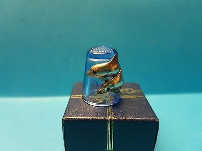 Sterling Classics Glass Thimble - Dolphins